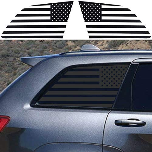 JeCar American Flag Window Decals Vinyl Rear Window Stickers Exterior Accessories for Jeep Grand product image