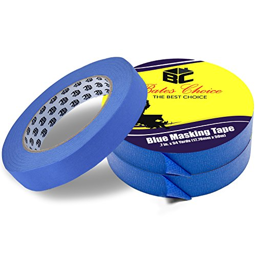 Bates- Painters Tape, 0.7 inch Paint Tape, 3 Pack of Painter Tape, Painting Tape, Masking Tape, Blue Masking Tape, Painting Supplies, Wall Safe Tape, Paint Tape, Blue Painter Tape, Tape for Drop Cloth