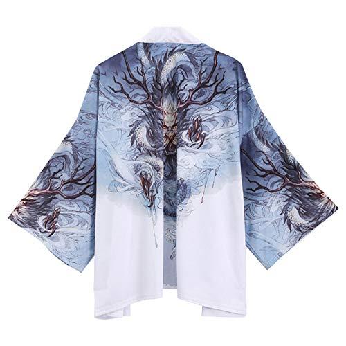 who-care Traditionelle japanische Kimono-Strickjacke, für Herren und Damen,...