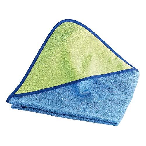 Wörner Sortie de bain 100 x 100 cm drap de bain bébé, bleu