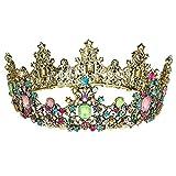 para Fiesta Boda Novia Oro REYOK Boda Novia de Diadema Corona Brillante Diadema de Diamantes de Imitaci/ón Peine Novia Tiara de Cristal corona de cumplea/ños
