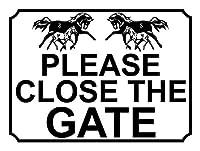 Please Close the Gate ティンサイン ポスター ン サイン プレート ブリキ看板 ホーム バーために