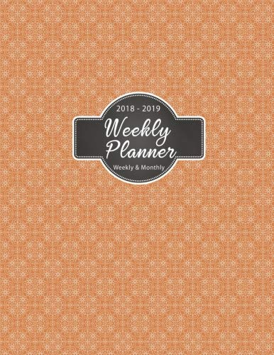 "2018-2019 Weekly Planner: 2019 8.5"" x 11"" Minimalist Design Pastel Monthly Daily Planner Calendar Sc"