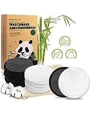 22 stuks make-uppads wasbaar, herbruikbare wattenpads van bamboe en katoen, perfect voor gelaatsreiniging, milieuvriendelijke producten, 2 kleuren met waszak