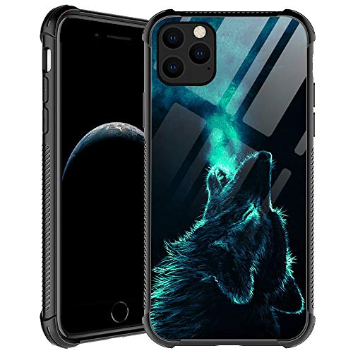 Compatible with iPhone 12 Pro Max Case,Lonely Wolf iPhone 12 Pro Max Cases for Men Boys,Anti-Scratch Soft TPU Pattern Design Case for Apple iPhone 12 Pro Max 6.7-inch Lonely Wolf