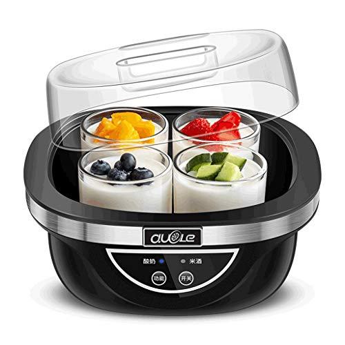Best Deals! Yogurt machine home automatic 4 glass split cup liner dormitory homemade rice wine ferme...