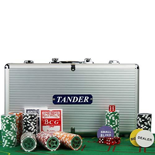Maleta Poker 300 Fichas Oficiais com Numeração Kit Completo - TMP300F