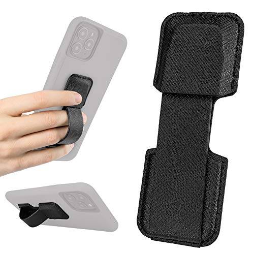 Smartish Prop Tart - Slim Fit Collapsible Loop & Kickstand [Grip for All iPhone & Android Phones] - Black Tie Affair