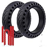 OLLIE STORE - Ruedas macizas para XIAOMI M365 / XIAOMI PRO/XIAOMI PRO 2 / XIAOMI ESSENTIAL/XIAOMI 1S. Neumático de reemplazo antipinchazo para patinete eléctrico con rueda de 8,5 pulgadas.