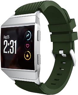 Compatible with Fitbit Ionic バンド、スポーツバンド 交換ベルト 、シリコン時計バンドの交換、for Fitbit Ionic スマートウォッチ (アーミーグリーン)