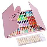 Noverlife Tarjeta de uñas color de la pantalla, 126 color de uñas visualización de cartas polaco del gel con consejos, profesional del clavo Muestras de color de uñas libro Práctica de mesa de diseño