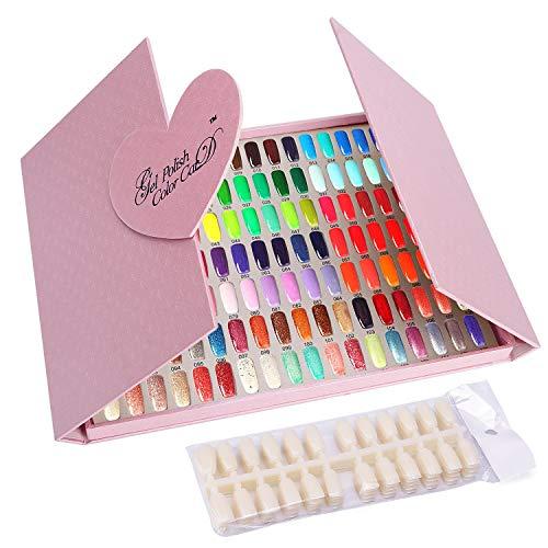 Noverlife Nail-Farb-Display-Karte, 126 Farben Nagelgelpoliermittel Anzeigen-Diagramm mit Spitzen,...