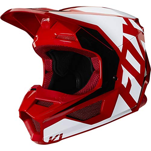 Fox Racing 2020 Youth V1 Helmet - Prix (Large) (Flame RED)