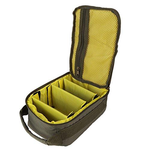 Leezo Fischerei Rollen Tasche 4-lagige 600D Oxford Tuch Dual Reißverschluss Outdoor Aufbewahrungsbox Container für Line Köder Fischhaken