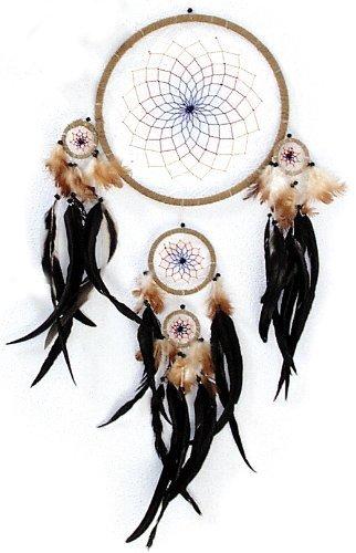 Riesen-Traumfänger mit echten Federn | Dreamcatcher 30cm