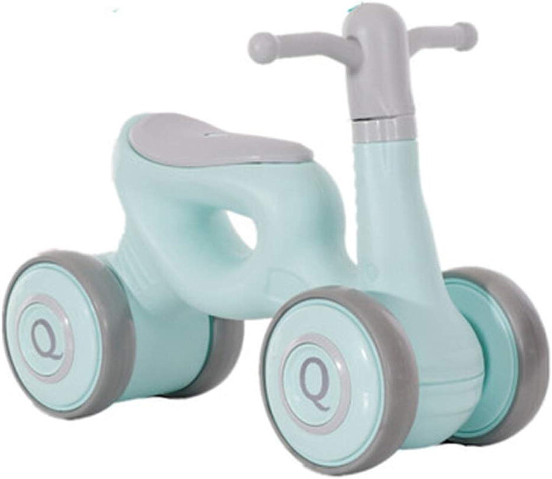 marcas en línea venta barata FFAJ Scooter para Niños Equilibrio para el Andador del Coche Coche Coche Cochero Giratorio Coche de Juguete para el Niño del Niño de 3 años (Color   verde)  ¡no ser extrañado!