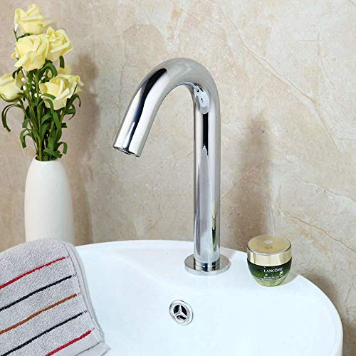 Cheap Kitchen Sink Taps Bathroom Sink Taps Solid Brass Bathroom Automatic Touch Free Sensor Faucets ...