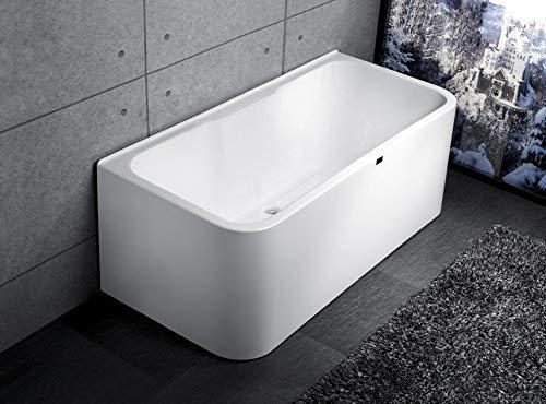 Schwänlein® Exclusive freistehende Badewanne Acryl mit Armatur 150cm 160cm 170cm 180cm … (170x78x62 mit Massage)