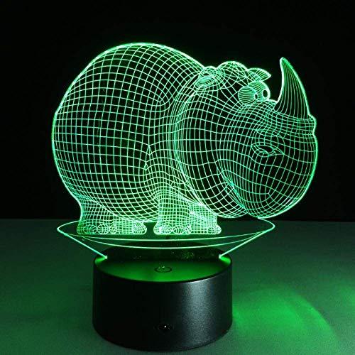 3D Optische Täuschung Nachtlicht Stimmungslampe Tierform USB LED Schreibtisch Tischlampe 7 Farben Blinken Touch Schalter Schlafzimmer Dekoration Beleuchtung für Kinder Weihnachtsgeschenk