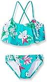 Kanu Surf Girls Flounce Bikini Beach Sport 2 Piece Swimsuit, Alania Floral Green, 8