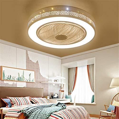 LightJH Plafondventilator, creatieve plafondlamp, led-verlichting en afstandsbediening, stille ventilatorverlichting voor kinderkamer, woonkamer, slaapkamer, diameter 55 cm