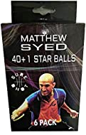 Sports Innovation Sure Shot Matthew Syed 1 Star Plastic Table Tennis Balls (Pack of 6) - White