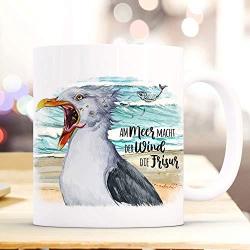Ol322ay beker mok koffiemok meeuw vogel spreekwoord op zee macht der wind die kapsel koffiemok geschenk Wordmug ts978
