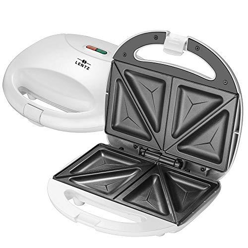 Markenqualität aus dem Hause Lentz Sandwichmaker Sandwich Maker Toaster 750 Watt weiß Sandwichtoaster Röster Expressversand ohne Aufpreis 24/48 Stunden