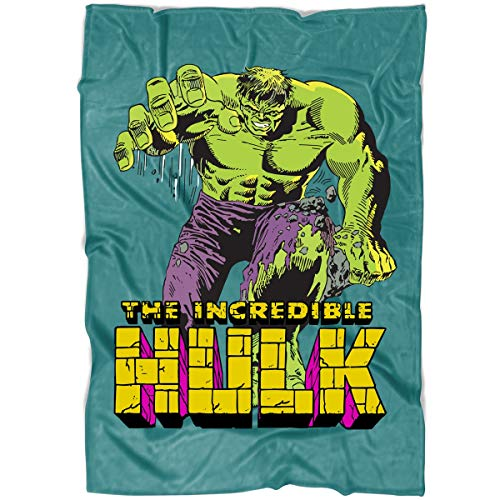 LEXIGSTORE The Incredible Hulk Soft Fleece Throw Blanket, Angry Hulk Blanket for Bed and Couch (Large Fleece Blanket (80'x60') - Green Pistachio)