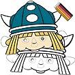 Wickie Comic Wikinger Maske Kinderparty 8 St   ck