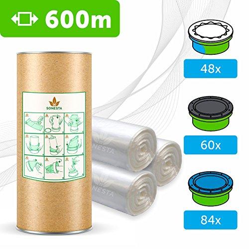600m ECO Ricarica compatibile per mangiapannolini Tommee Tippee TEC Twist & Click Simplee | Angelcare | Litter Locker | Equivale 60 ricariche | Compatibili al 100% | antiodore EVOH+