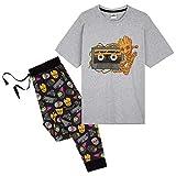 Marvel - Pigiama da uomo Guardiani della Galassia, pigiama da uomo con personaggio Groot, 2 pezzi Pjs manica corta top e pantaloni lounge, regalo per uomini e adolescenti multicolore XL