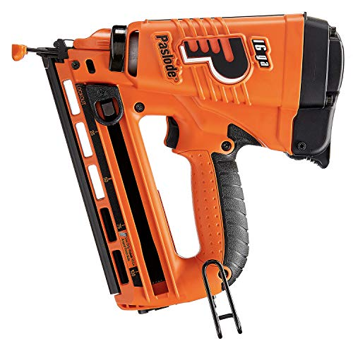 Paslode, Cordless Finish Nailer, 902400, 16 Gauge Angled, Battery and Fuel Cell Powered, No Compressor Needed