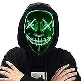 Springrain LED Purge Maske, LED Mask mit 3 Blitzmodi für Halloween Fasching Karneval Party Kostüm...