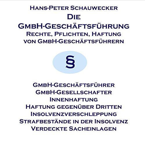 Die GmbH-Geschäftsführung Titelbild