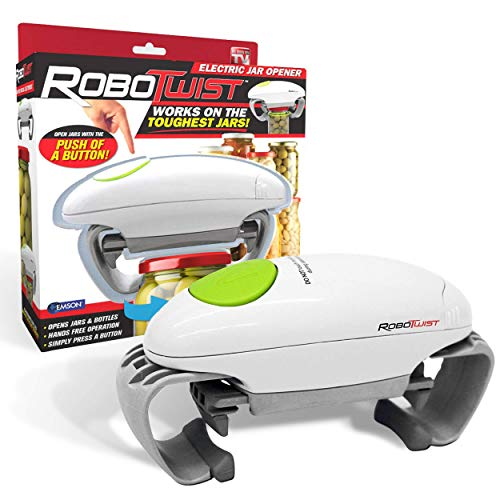 Robotwist Deluxe 7321 Automatic Jar Opener As Seen, Higher Torque for Improved Jar Opening Performance On TV