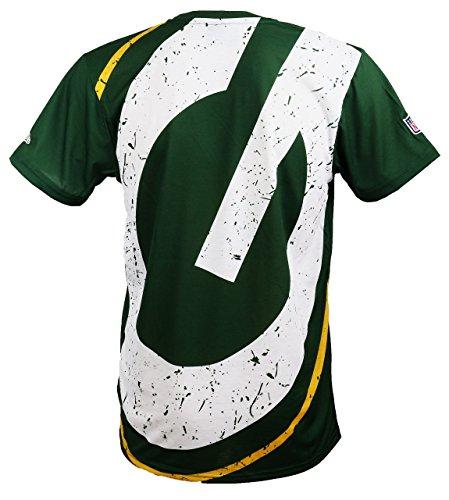 New Era Green Bay Packers T Shirt/Tee Big Logo Back Green - 3XL