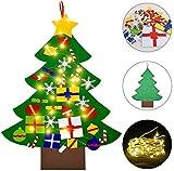 Fieltro árbol de Navidad con 3 m LED, 1 m, árbol de...