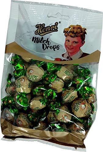 Henri Milchdrops Milky Nutty Bonbons mit Nussgeschmack Füllung 250g