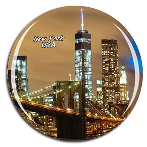 Weekino Stati Uniti America Ponte di Brooklyn a New York Calamità da frigo 3D Cristallo Bicchiere Tourist City Viaggio Souvenir Collezione Regalo Forte Frigorifero Sticker