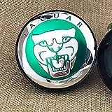 Dodoro 4 Pack 59mm 2.32inch Car Wheel Tire Center Caps, Hubcaps Logo Covers for Jaguar XE XF XFL XEL (Green)