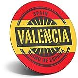 Destination Vinyl ltd Impresionante imán para nevera, nevera – Valencia España Reino de España Viaje para oficina, gabinete y pizarra blanca, pegatinas magnéticas, 6015
