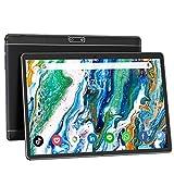 10 Pulgadas Tablet Doble SIM 3G Teléfono Llamada Tablets, Cuatro Nucleos Android 9.0 HD Pantalla táctil Tablet con 32GB ROM/128GB Expandir, 6000 mAh Batería, 5MP Cámara, WiFi, Bluetooth, GPS