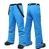 Aniywn Womens Mens Snow Pants Adjustable Back Strap Pants,Hiking Pants Ski Pants Windproof Fleece Lined Soft Snow Pants