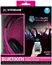 Xtreme Cables Talk N' Walk Pro Bluetooth Headphones with Microphone for Smartphones and Tablets, Pink
