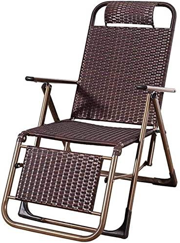 Patio Lounge Chairs Recliner Folding Reclining Chair Sun Lounger Garden Zero Gravity Chairs Deck Chairs Beach Armchair Outdoor Indoor Brown