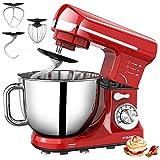 FIMEI Stand Mixer 660W, 5.5 Qt Food Mixer, 6-Speed Tilt-Head Kitchen Mixer (Dough Hook and Beater...