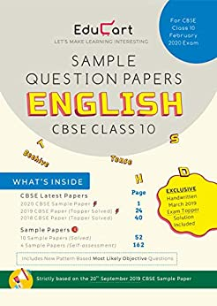 English Sample Papers CBSE For Class 10 by [Educart]