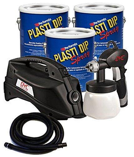 Plasti Dip Bundle - 4 Pieces 3 Gallon Basic Car Kit - Black (No California)