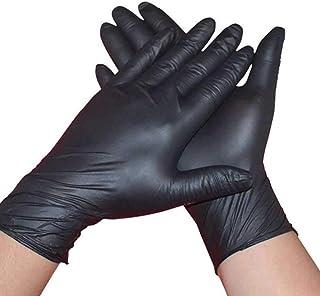 Cuidado De Manos De Nitrilo, Negro Desechable, Sin Polvo Y S